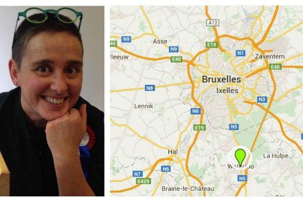 Véronique Socié vit depuis presque deux ans à Bruxelles en Belgique