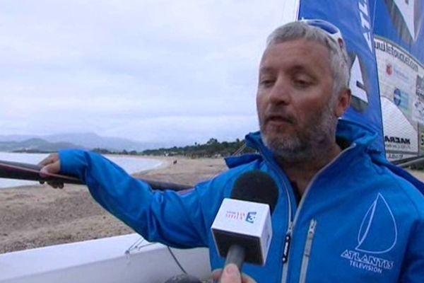 Yvan Bourgnon à Porticcio en Corse du sud, le 28 mars