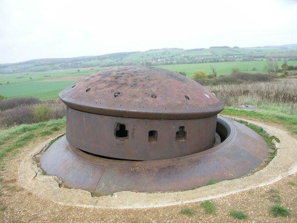 """Le fort - ou """"ouvrage"""" - de La Ferté, dans les Ardennes, où 107 Français périrent lors d'un assaut allemand dans la nuit du 18 au 19 mai 1940."""