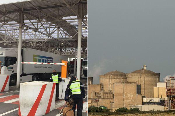 A gauche, le terminal d'Eurotunnel. A droite, la centrale nucléaire de Gravelines