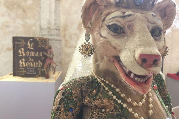 Une marionnette de Ladislas Starewitch du film Le roman de renard tourné en 1929-1930.