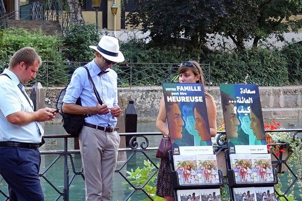 Témoins de Jéhovah à Annecy, photo d'illustration.