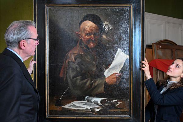 Le tableau affiché à Paris, le 9 mars 2020 avant sa vente à la maison de vente aux enchères Hôtel Drout le 27 mars à Paris.