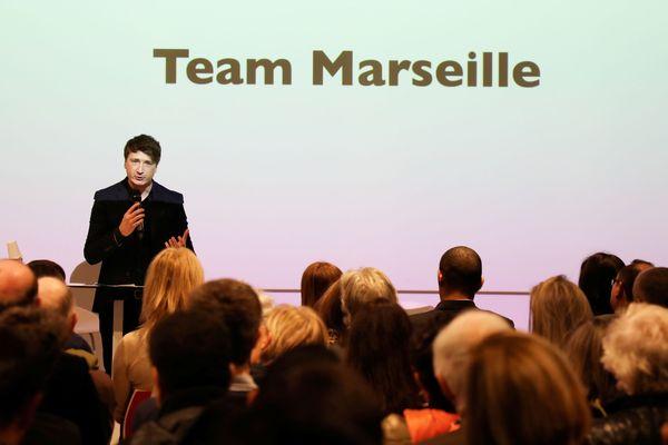 Bertrand Mas-Fraissinet, représentant LREM pour les Bouches-du-Rhône, lors de lma cérémonie des voeux, janvier 2019.