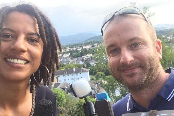 Notre équipe .3NoA est dans les Pyrénées-Atlantiques. Maïté Koda et Charles Rabreaud, équipés de leur smartphone pour intervenir en direct  dans l'émission spéciale