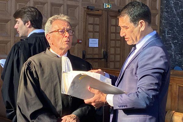 Me Michel Pezet et son client Karim Zeribi