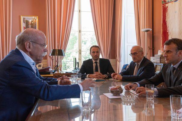 Rencontre entre Emmanuel Macron et les dirigeants de Daimler et Mercedes