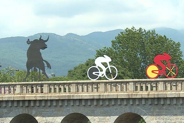 Céret déjà dans l'ambiance du Tour de France