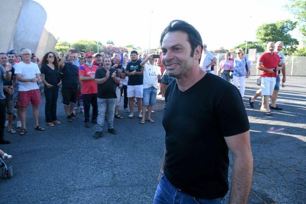 L'ancien joueur international français de rugby Christophe Dominici en juin 2020 à Béziers.