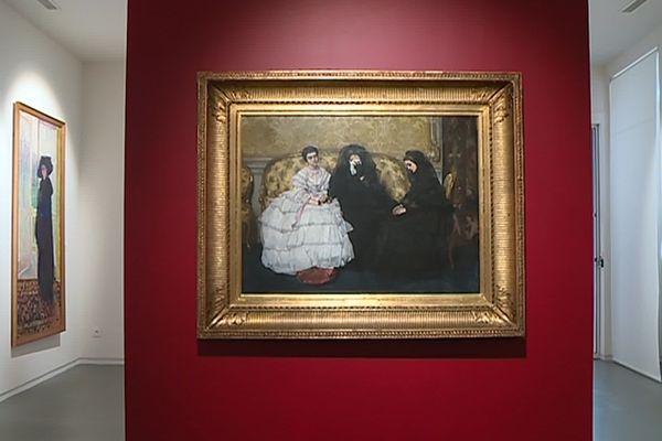 Lodève (Hérault) - une peinture d'Alfred Stevens au Musée Fleury - 2019.