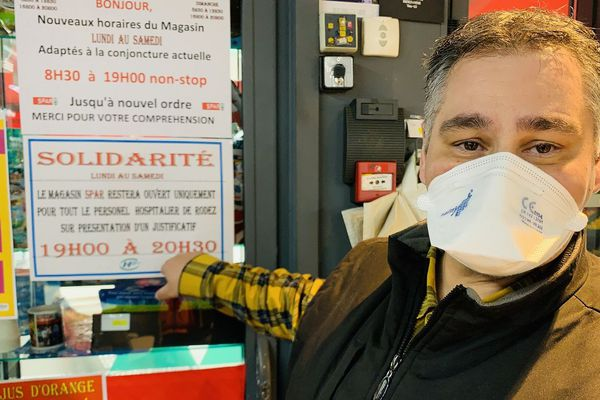 Le commerçant est solidaire des personnels de l'hôpital de Rodez
