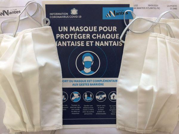 Les masques distribués par la ville de Nantes.