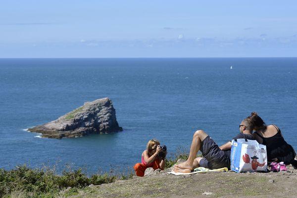 Touristes au Cap Fréhel