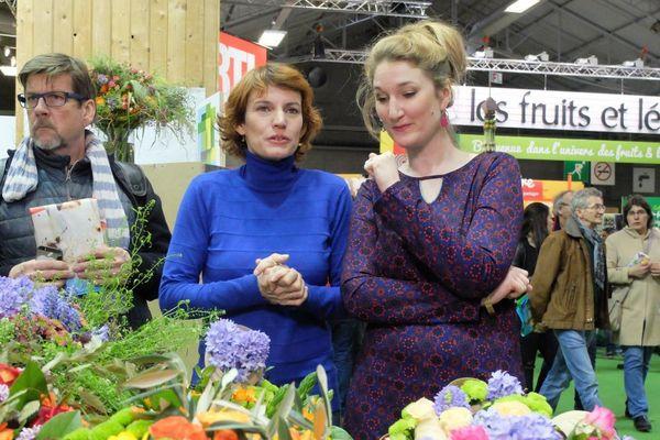 Amélie Douay et Florence Cicolella au salon de l'agriculture, côté fleurs