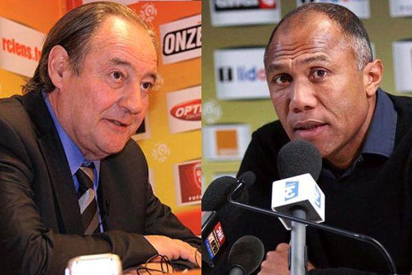 Gervais Martel et Antoine Kombouaré : première conférence de presse du nouveau RC Lens 2013-2014.
