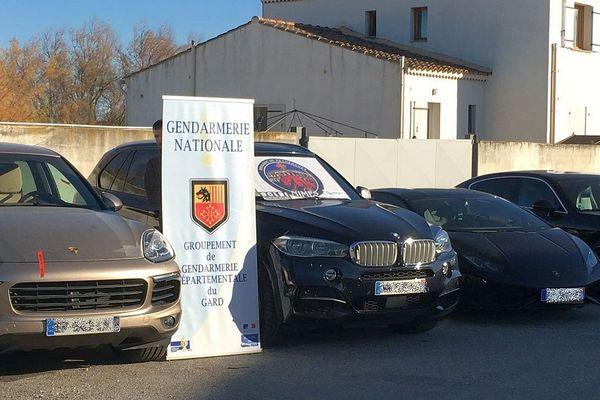 Gard : démantèlement d'un réseau de trafiquants de voitures de luxe volées - janvier 2019.