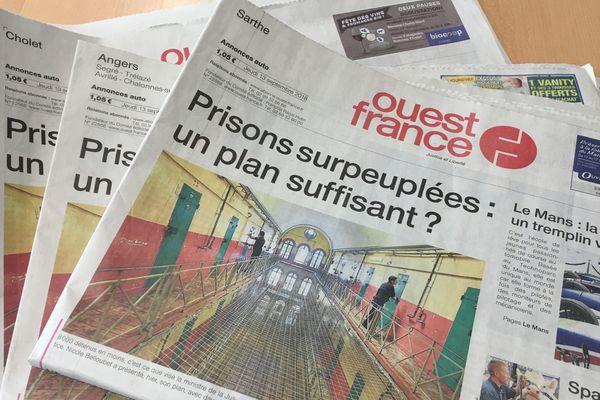 Ouest-France ferme trois de ses rédactions dans les Pays de la Loire