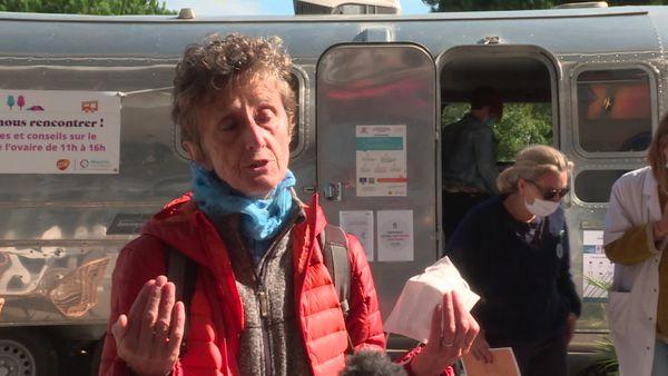 Christiane Peyrac, malade d'un cancer de l'ovaire, adhérente et intervenante de l'association Imagyn.