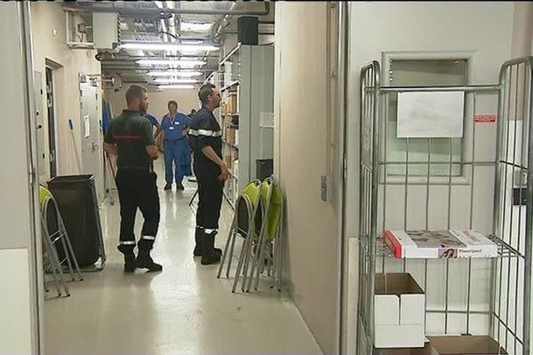 Les pompiers en intervention à l'hôpital de Libourne ce lundi 11 juin.