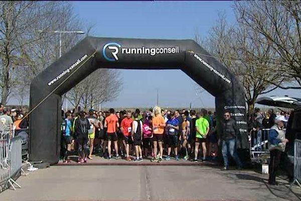 Samedi 19 mars 2016, au départ du semi-marathon de Nuits-Saint-Georges.