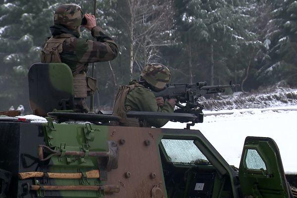 Les militaires du RICM au combat à la Courtine