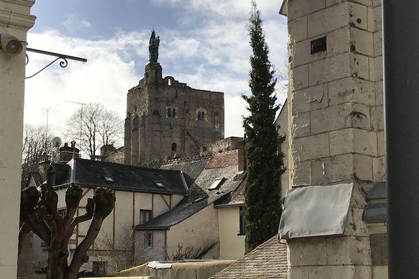 La forteresse de Montbazon, en péril à cause des éboulements répétés depuis 2001.