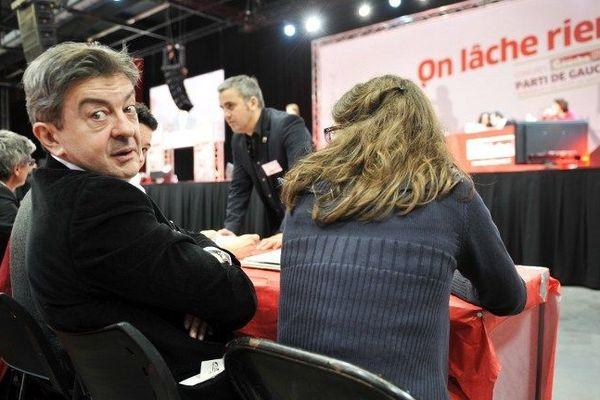 Jean-Luc Mélenchon lors de la clôture du congrès du Parti de Gauche.