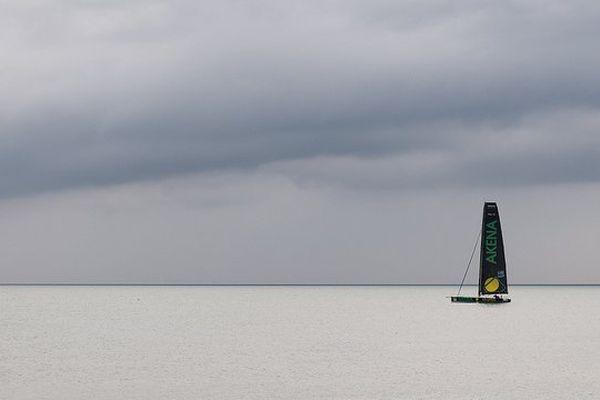Le voyage en solitaire, Arnaud Boissières, au départ du Vendée Globe 2012/2013
