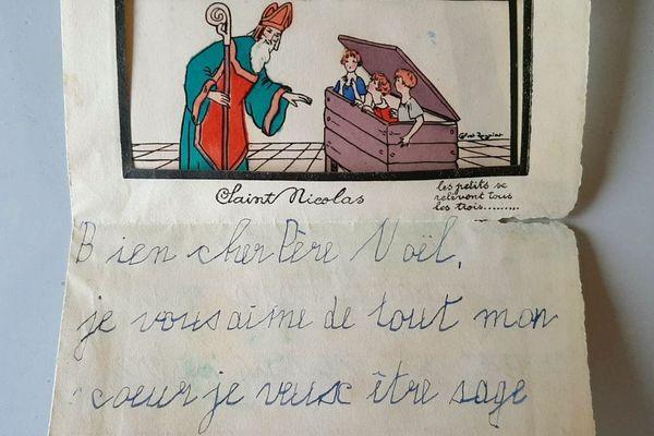 Une lettre au père Noël datant des années 1930 a été retrouvée lors d'un diagnostic archéologique sur le site des anciens moulins Becker à Strasbourg.