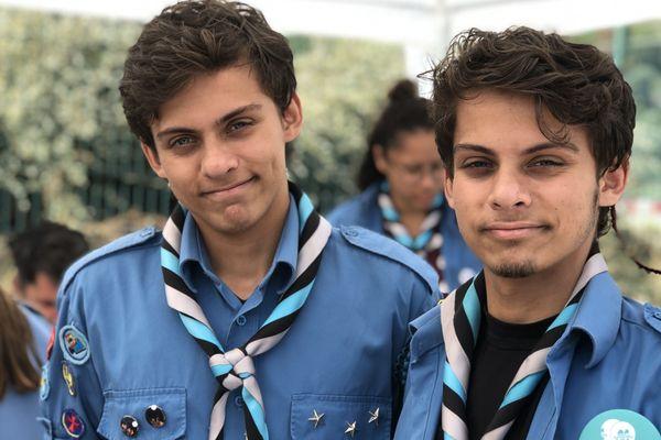 Marc et Timothée, les jumeaux atteints de la mucoviscidose animent un stand aux Virades de l'espoir de Villeneuve-Loubet en septembre dernier.