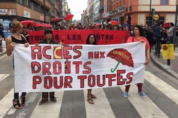 La manifestation contre la loi El Khomri des travailleurs du sexe