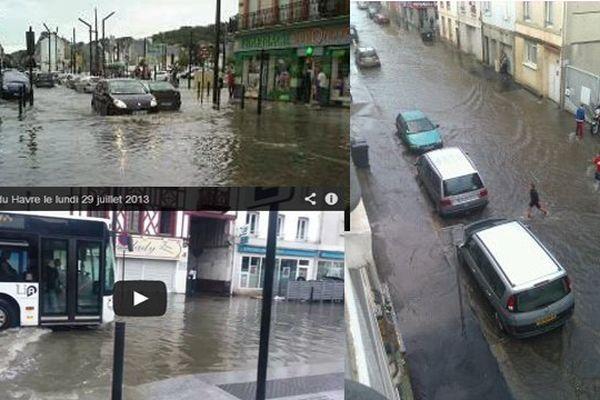Des fortes pluies sont tombées au Havre lundi soir.