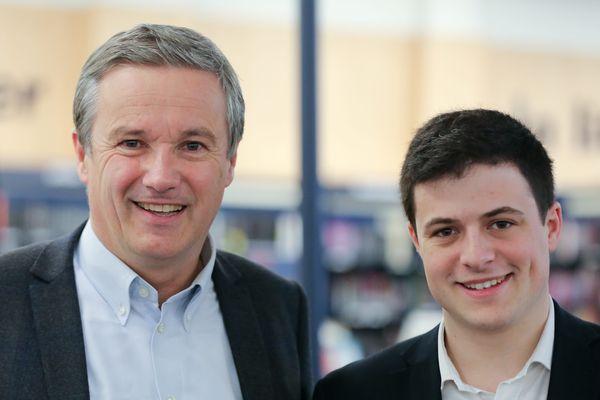 Nicolas Dupont-Aignan et Maxime Thiébaut, de Debout La France