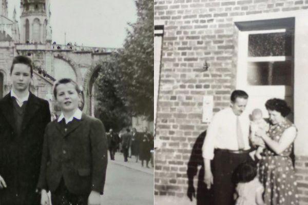 La famille Decanter de Tourcoing (à gauche) et la famille Lebrun de Pont-à-Marcq (à droite) ont été marquées par la grippe asiatique de 1957.