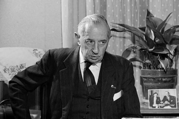 L'ancien combattant normand Auguste Thin, en 1965 © AFP - GEORGES HERNAD / INA
