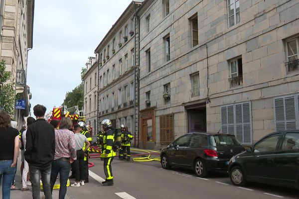 Incendie rue Charles Nodier à Besançon