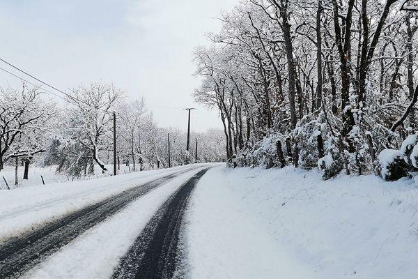 Le réseau secondaire du Lot sous la neige