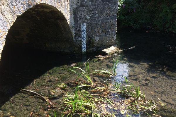 Le niveau du Clain est aussi bas qu'en plein été (Photo d'illustration)
