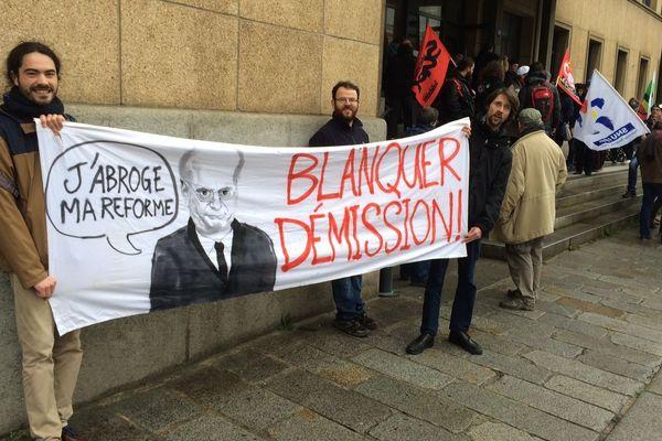 Les AESH mobilisés à Rennes