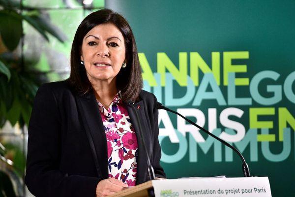Anne Hidalgo, lors de la présentation officielle de son programme devant la presse, le 6 février 2020.