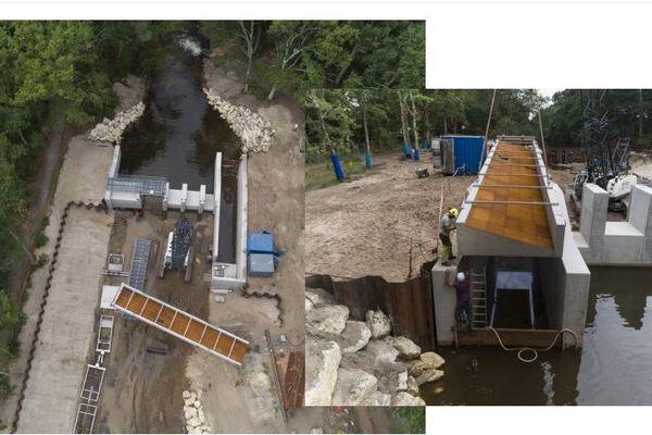 Les travaux sur le canal des Landes