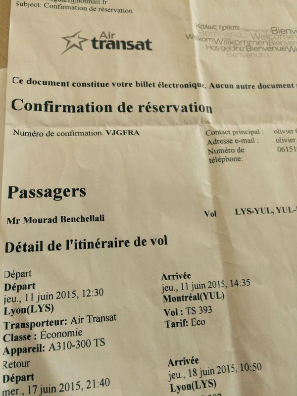 Le billet d'avion de Mourad Benchellali