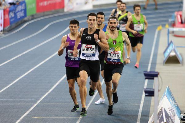 Pierre-Ambroise Bosse, lors des derniers Championnats de France en salle disputés à Miramas, du 19 au 21 février 2021.