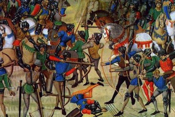 Les archers anglais avaient déjà infligé une sévère défaite aux Français à Crécy en 1346.