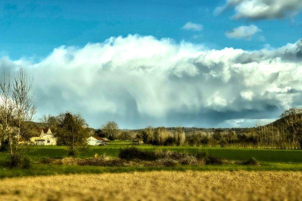 Magnifique formation nuageuse en Limousin