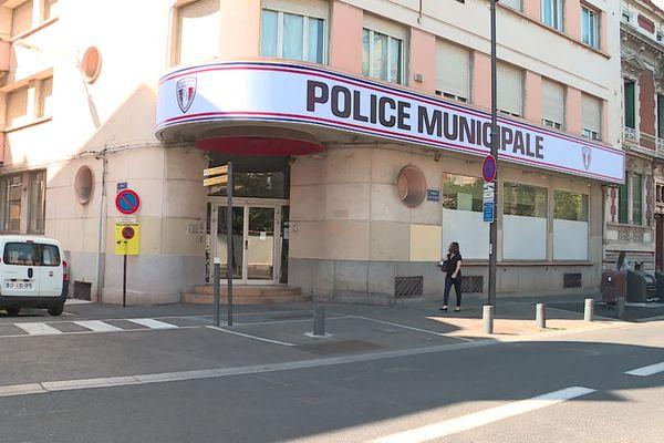 Le poste de police municipale du quartier de la gare à Perpignan