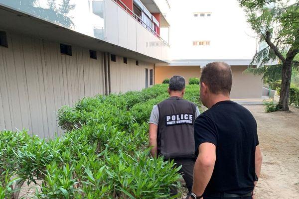 Des barrettes derésine et des pochons d'herbe de cannabis ont été découverts cachés dans la haieprès du point de deal.