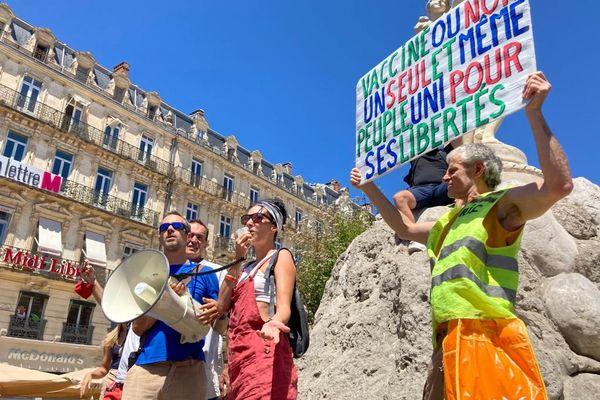 Manifestation contre la vaccination obligatoire et le pass sanitaire à Montpellier samedi 17 juillet 2021