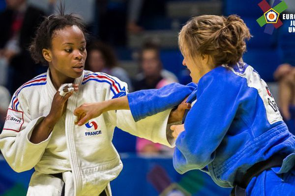 18/09/16 - La française Astride Gneto médaillée de bronze en -52kg au Championnat d'Europe juniors de judo à Malaga (Espagne)