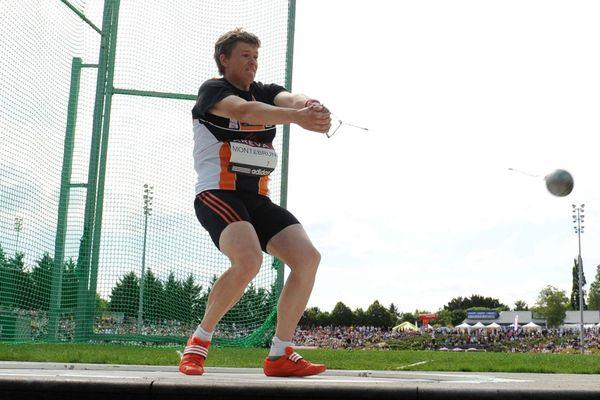Une des dernières compétitions disputées par Manuela Montebrun avant sa retraite, les championnats de France en 2012 à Angers